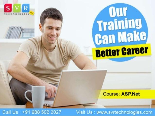 Asp.net Online Training Course Classes by SVR Technologies