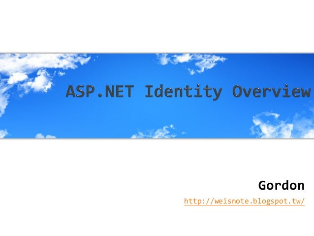 Asp.net identity overview