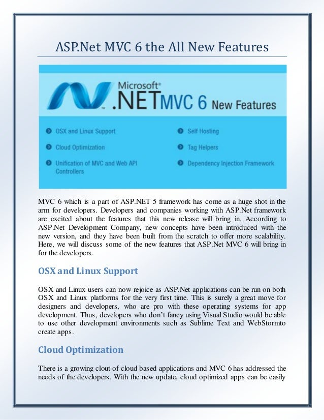 asp net mvc 6 the all new features
