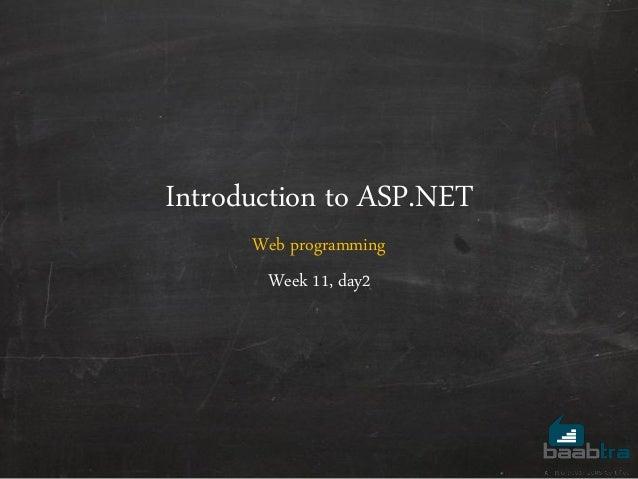 ASP.NET - Web Programming