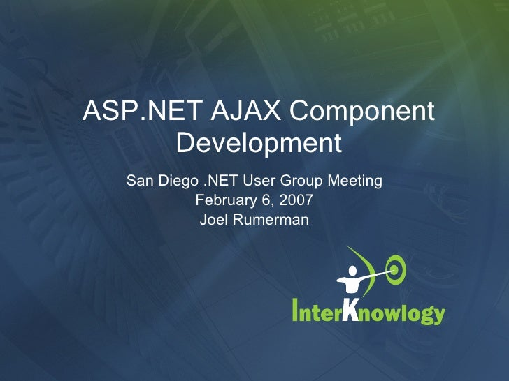 Asp.Net Ajax Component Development