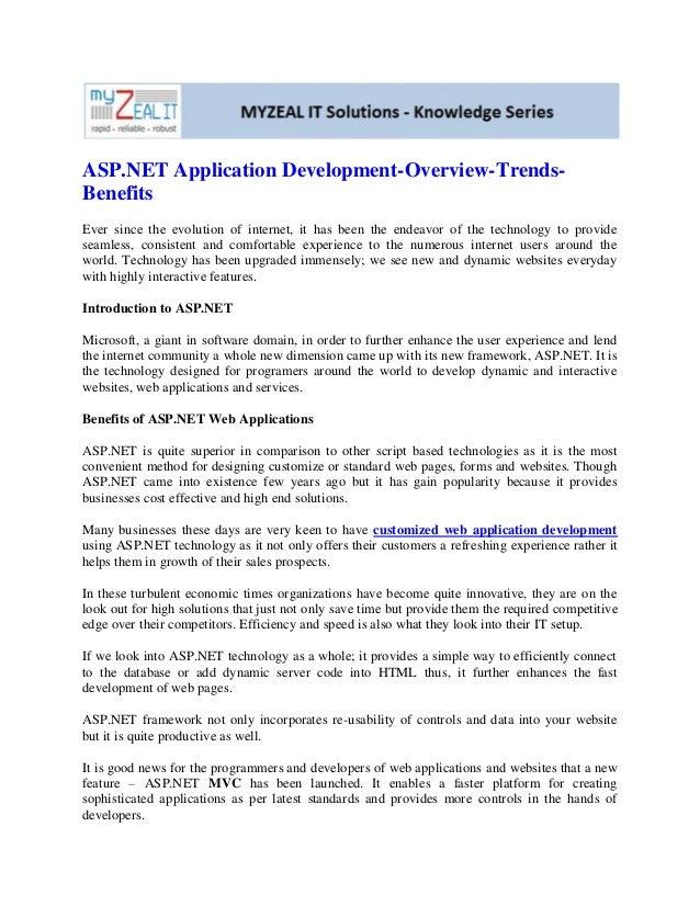 Asp.net application development overview-trends-benefits