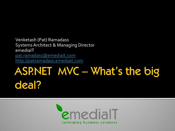 ASP.NET MVC - Whats The Big Deal