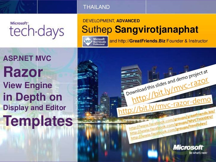 THAILAND                     DEVELOPMENT, ADVANCED                     Suthep Sangvirotjanaphat                           ...