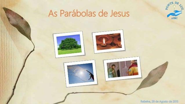 Rebelva, 28 de Agosto de 2015 As Parábolas de Jesus