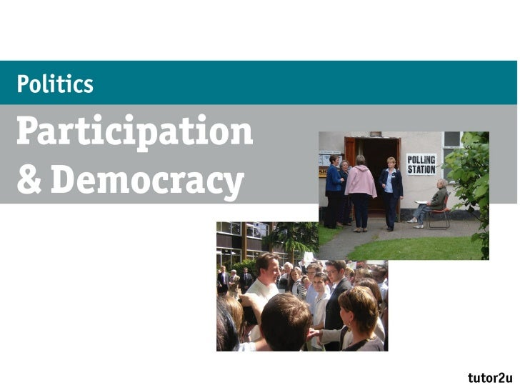 As participation and democracy