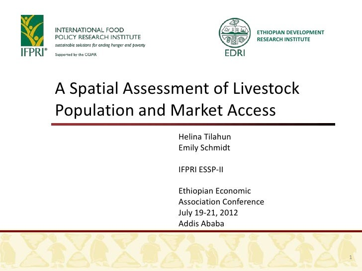 ETHIOPIAN DEVELOPMENT                                    RESEARCH INSTITUTEA Spatial Assessment of LivestockPopulation and...