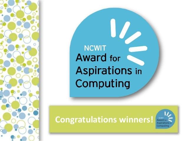Congratulations winners!