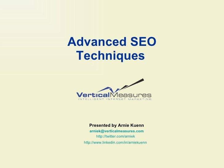 Advanced SEO Techniques