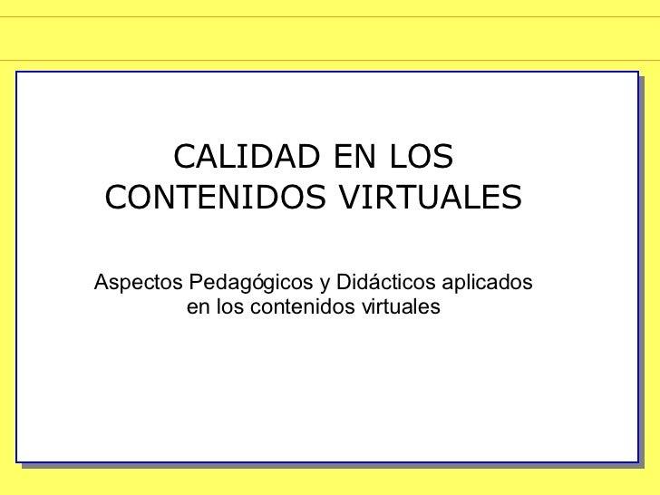 Aspectos Pedagogicos  En El Aprendizaje Virtual