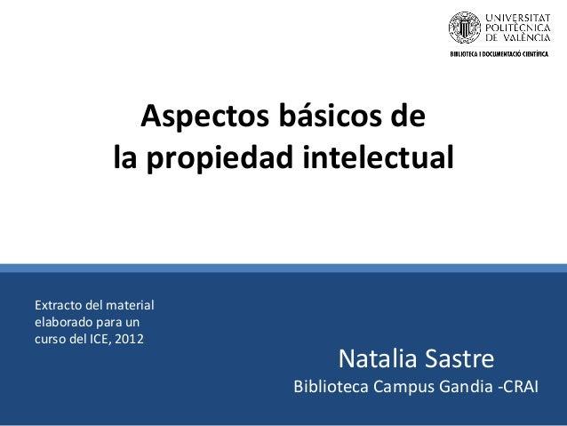 Aspectos básicos de la propiedad intelectual