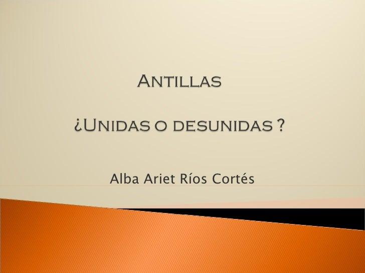 Alba Ariet Ríos Cortés