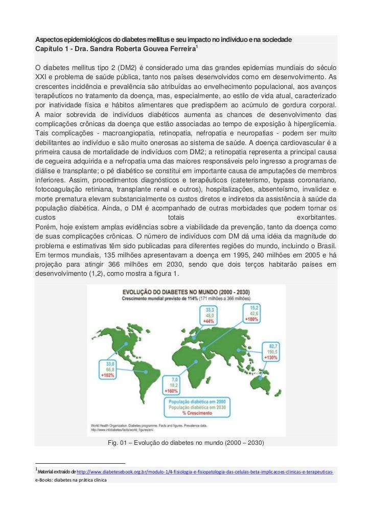 Aspectos epidemiológicos do diabetes mellitus e seu impacto no indivíduo e na sociedadeCapítulo 1 - Dra. Sandra Roberta Go...