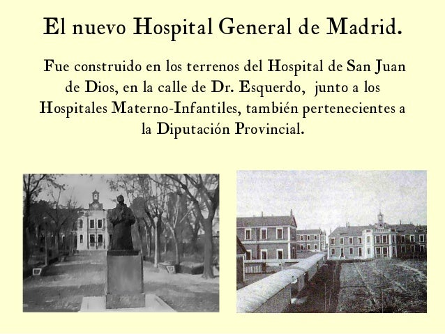 Aspectos hist ricos del hospital general de madrid 2 edici n for Hospital de dia madrid