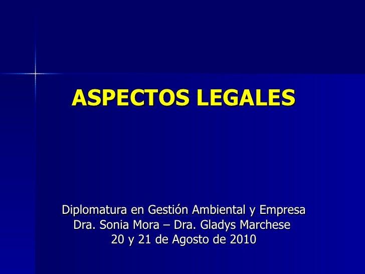 Aspectos legales   dgae agosto 2010