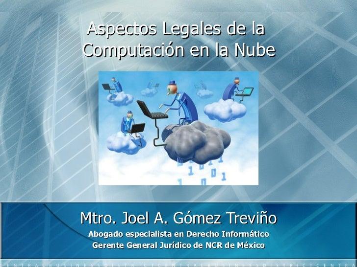 Aspectos Legales del Cloud Computing