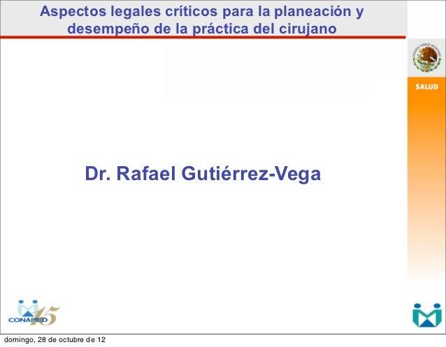 Aspectos legales practica cirujano