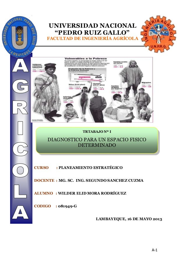 """A-1UNIVERSIDAD NACIONAL""""PEDRO RUIZ GALLO""""FACULTAD DE INGENIERÍA AGRÍCOLACURSO : PLANEAMIENTO ESTRATÉGICODOCENTE : MG. SC. ..."""