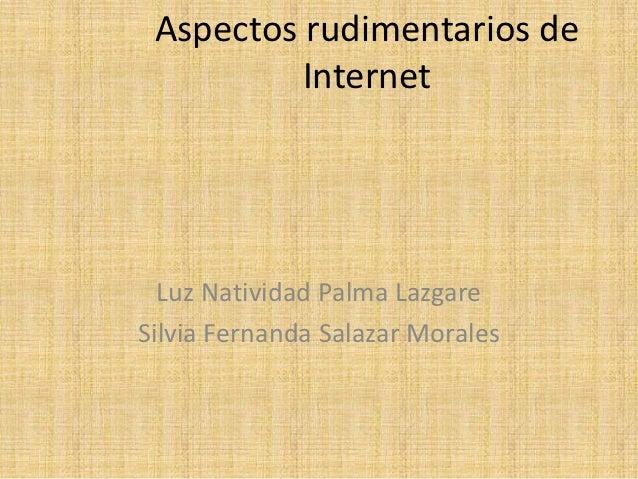 Aspectos rudimentarios de internet