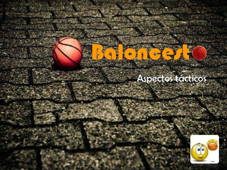 Baloncest    Aspectos tácticos