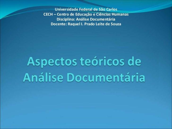 Aspectos Teoricos de Analise Documentaria
