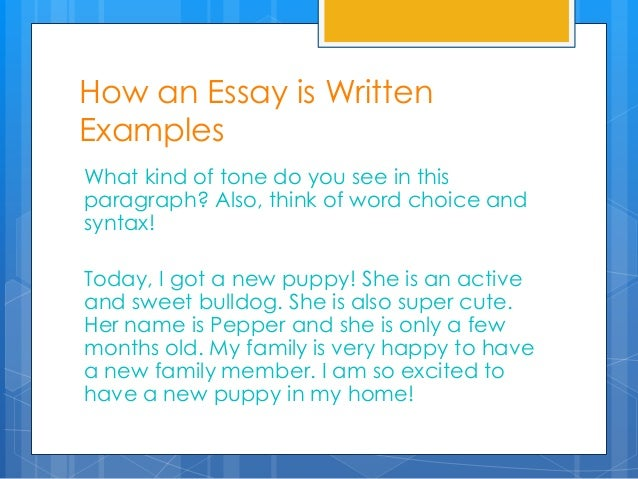 What kind of essay is...?