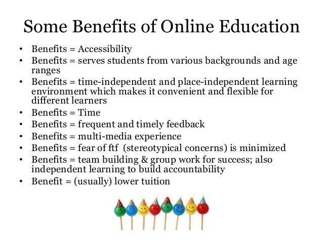 online learning benefits essay Karen costa explains why online education might be the best bet for introverted students.