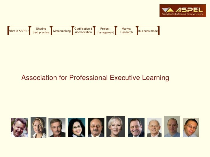 Sharing                     Certification &     Project     MarketWhat is ASPEL?   best practice   Matchmaking   Accredita...