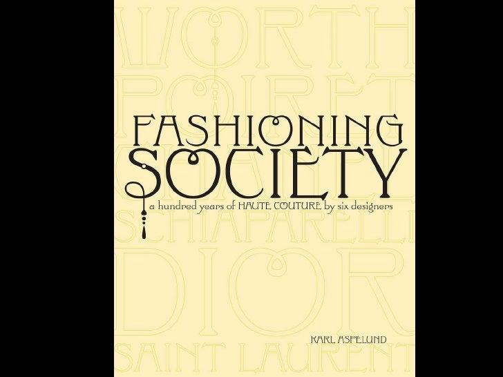 Fashioning Society Karl Aspelund