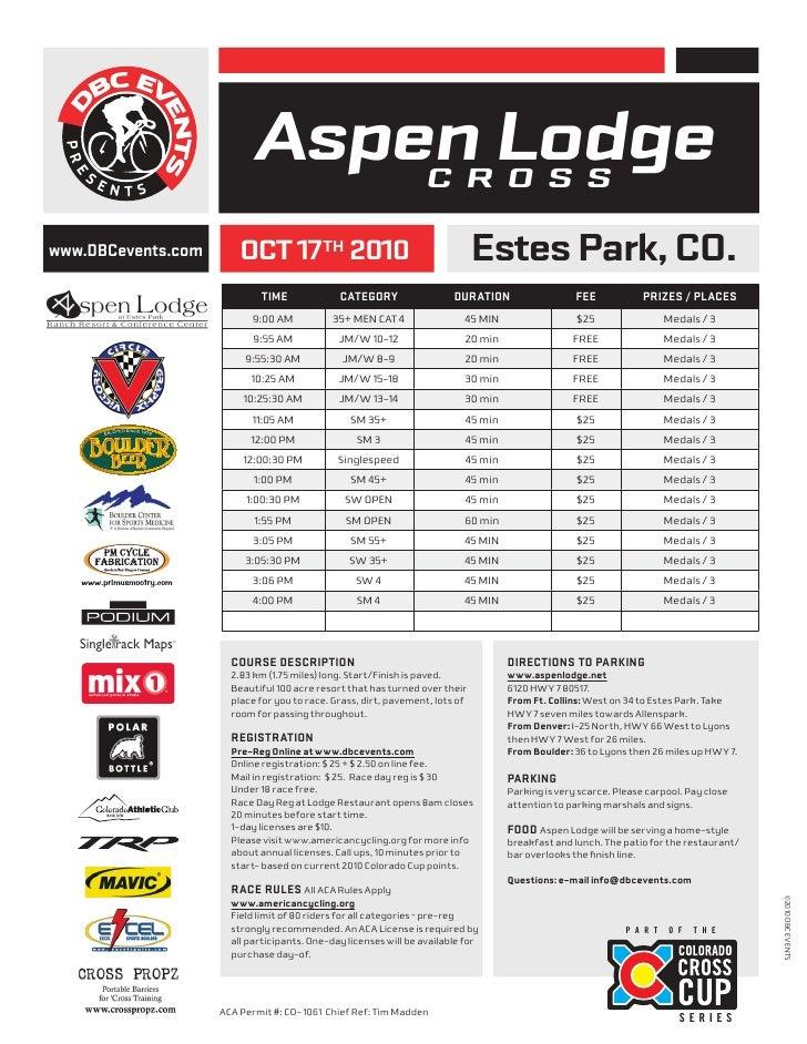 WWW.DBCEVENTS.COM                           Aspen Lodge                            C R O S S  www.DBCevents.com       OCT ...