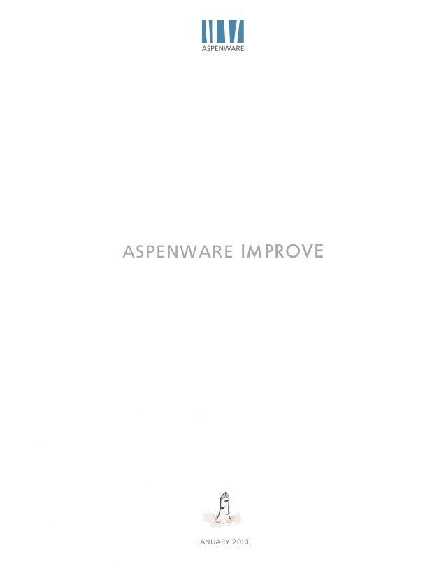 ASPENWARE IMPROVE      JANUARY 2013