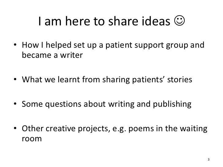 Creative writing groups