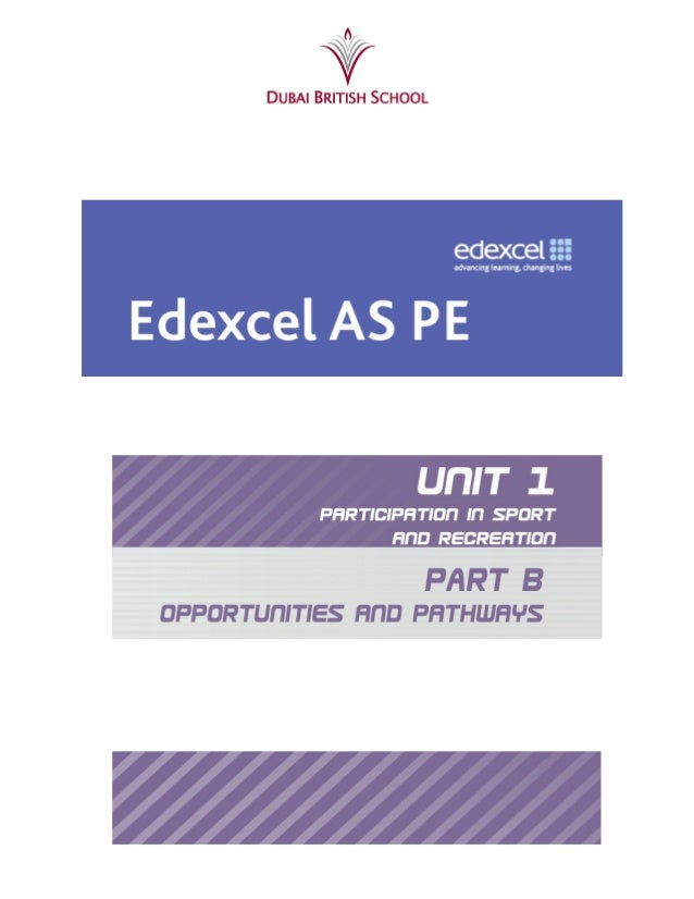 AS PE Revision Guide Opportunities and Pathways