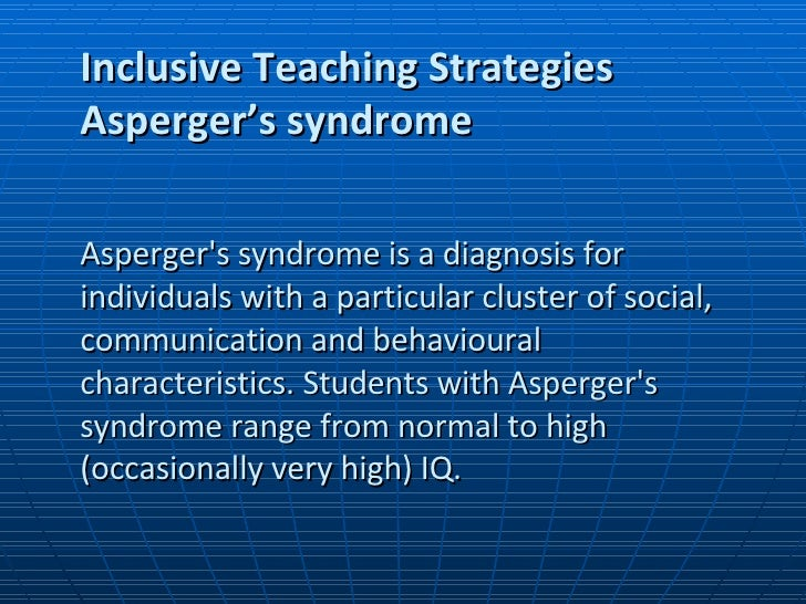 strategies for adults with aspergers syndrome