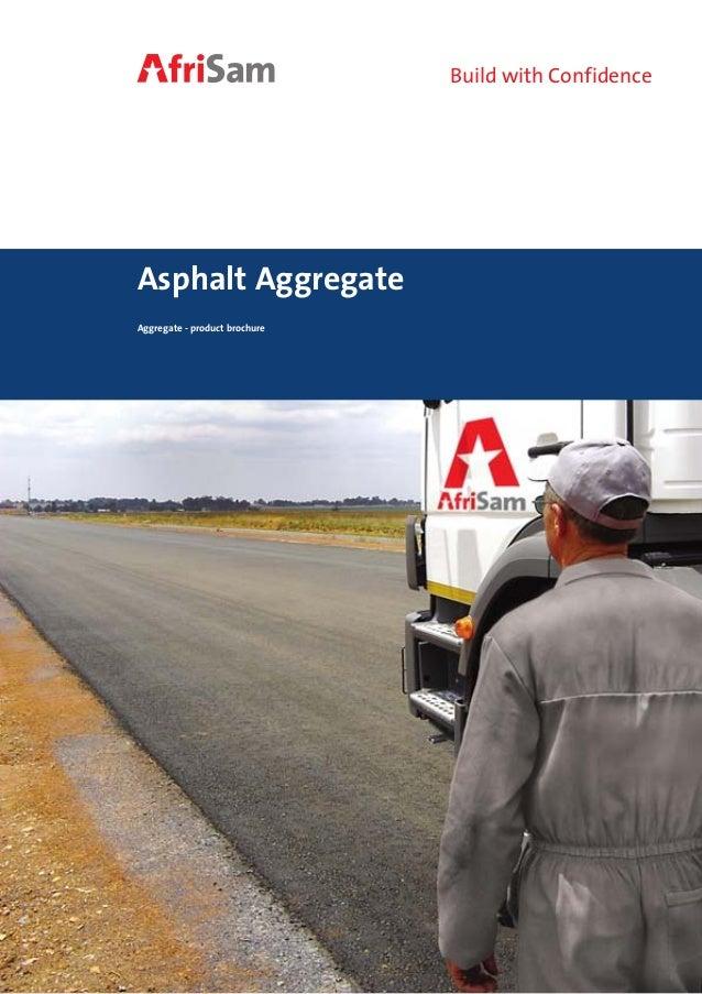 Asphalt aggregate brochure