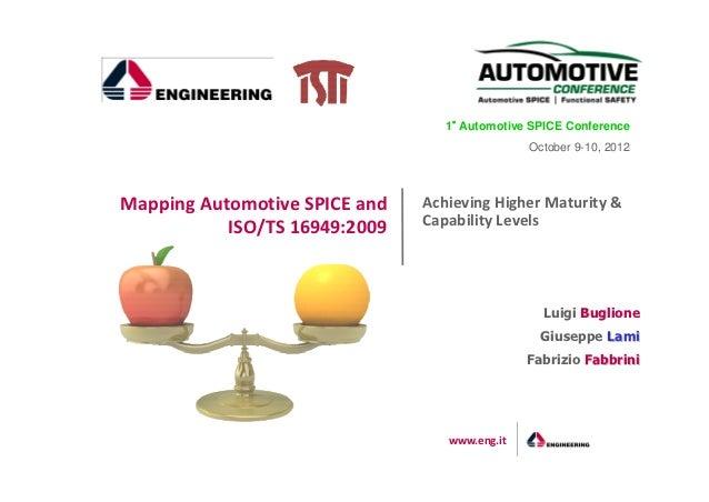 1° Automotive SPICE Conference                                   °                                               October 9...