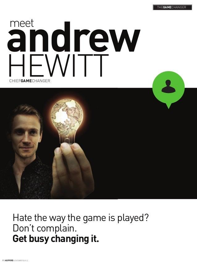 Andrew Hewitt, GameChanger, founder of GameChangers 500