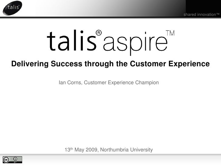Talis Aspire - Delivering Success through the Customer Experience