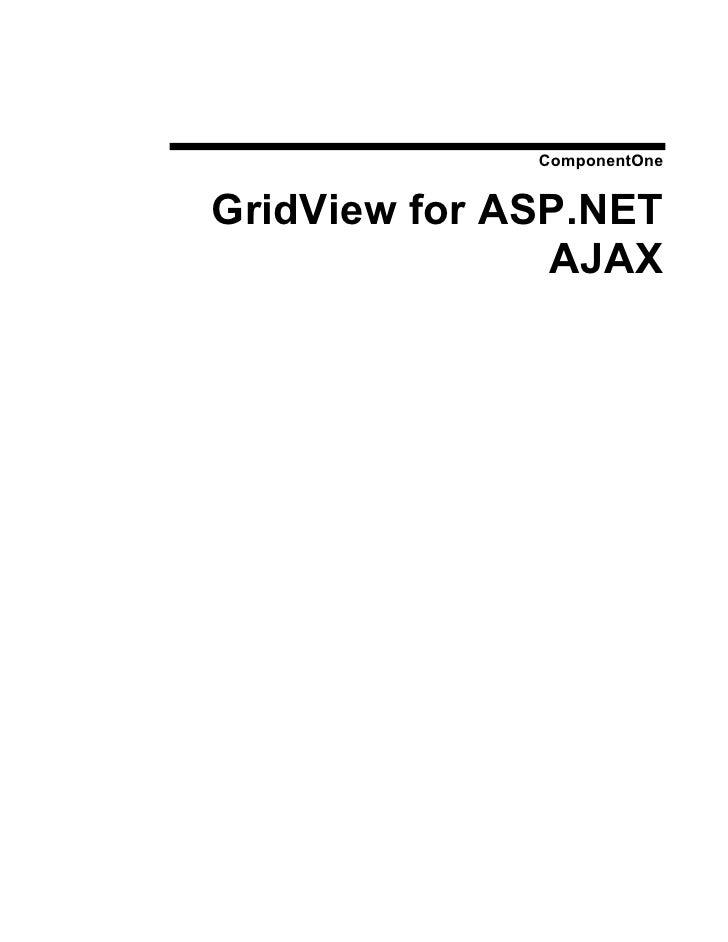 ComponentOne   GridView for ASP.NET                AJAX