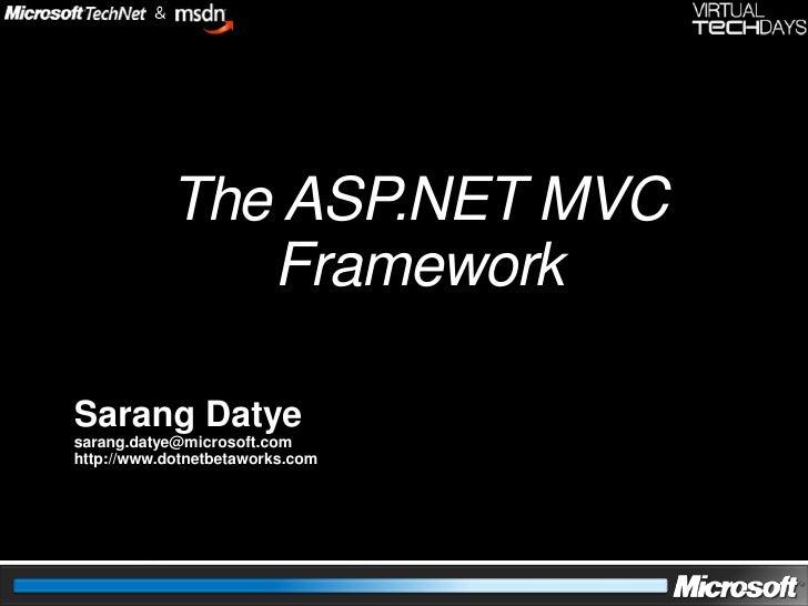 Asp.Net MVC Framework Design Pattern