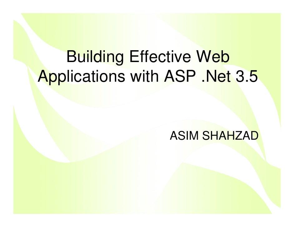 Asp.Net 3.5 Part 2