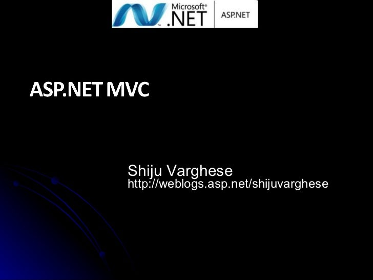 Introduction to ASP.NET MVC 1.0