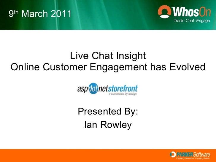 WhosOn live Chat - Analytics, Interface Design & CRM Intergration