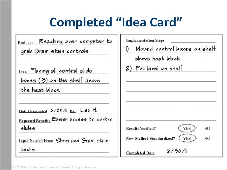 Completed Idea Card 169 2012