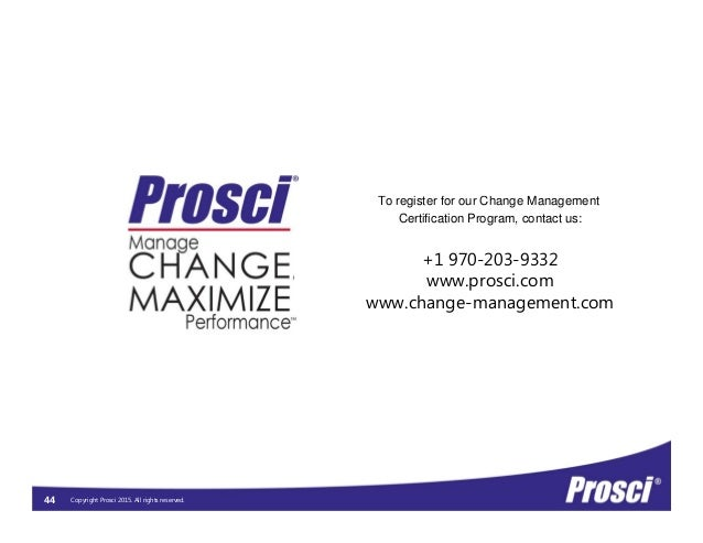 prosci change management certification demystifying program