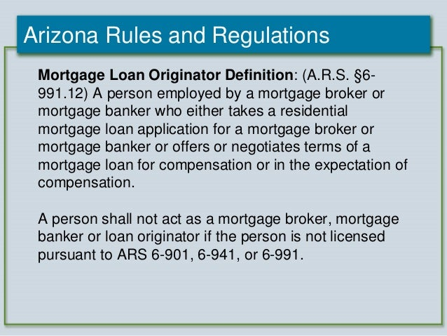 2012 Arizona Mortgage Lending Internet Advertising Compliance