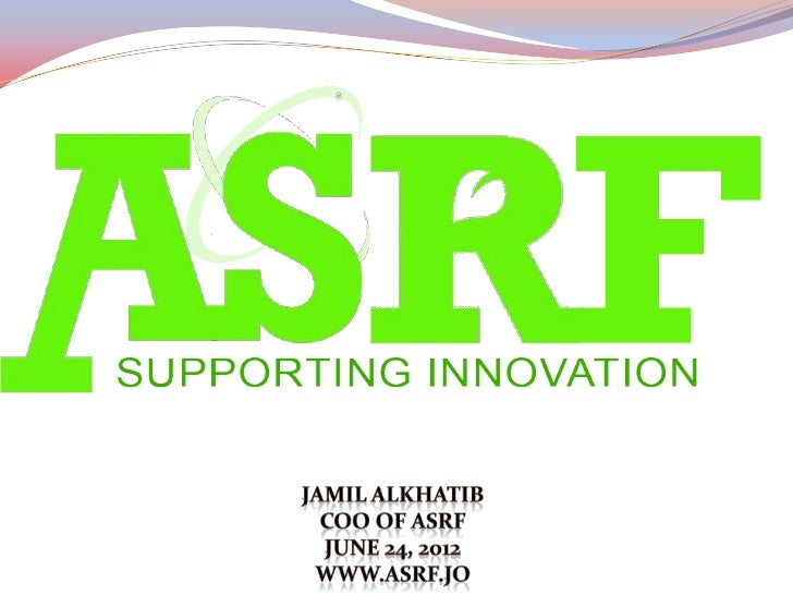 ASRF Applied Scientific Research Fund (ASRF) is a non- government, non-profit organization, it is a spin-off from MonoJo,...