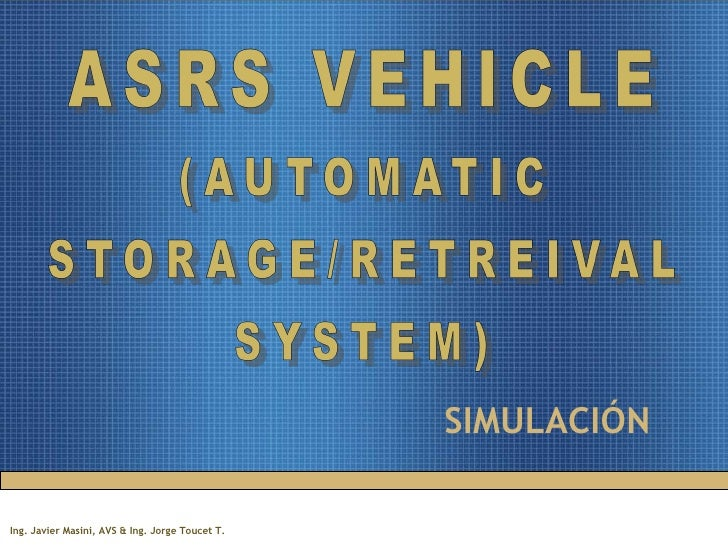 ASRS Vehicle