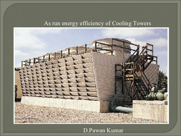 As run energy efficiency of Cooling Towers               D.Pawan Kumar