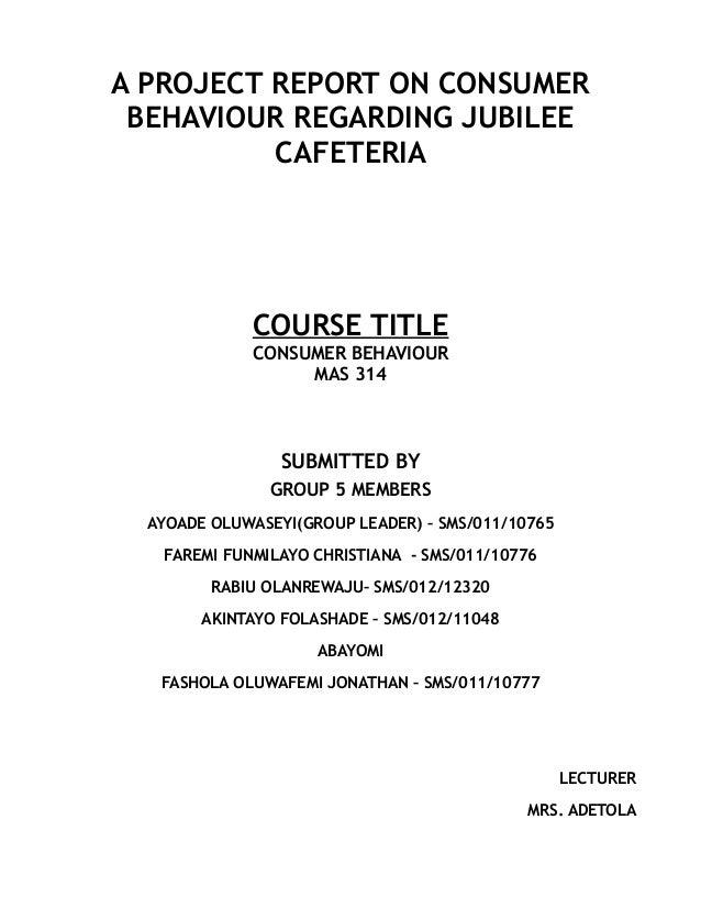 Consumer Behaviour Case study